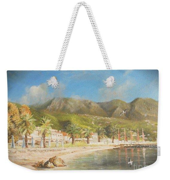 The Beach Of Ipsos Weekender Tote Bag