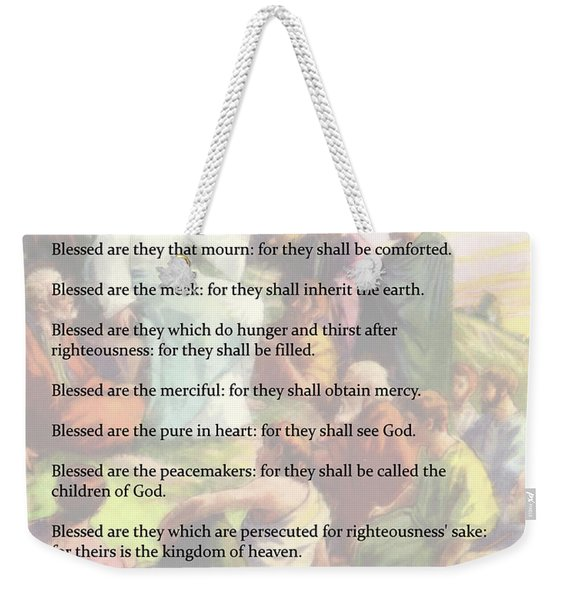 The Beatitudes Weekender Tote Bag