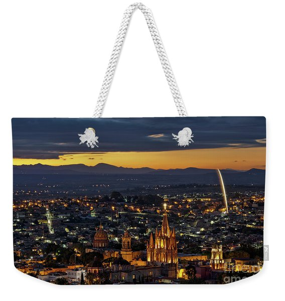 The Beautiful Spanish Colonial City Of San Miguel De Allende, Mexico Weekender Tote Bag