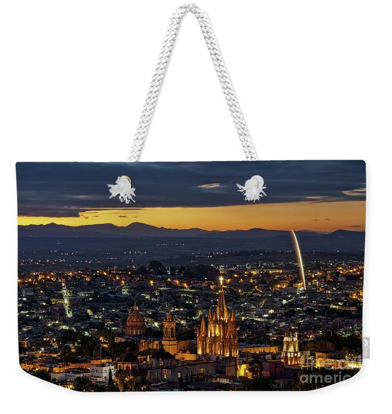 Weekender Tote Bag featuring the photograph The Beautiful Spanish Colonial City Of San Miguel De Allende, Mexico by Sam Antonio Photography