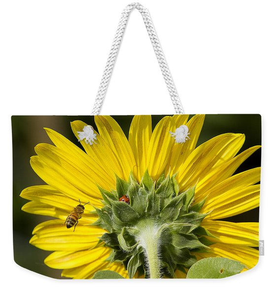 The Bee Lady Bug And Sunflower Weekender Tote Bag