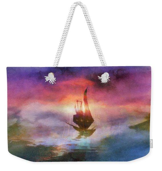 The Belated Boat Weekender Tote Bag