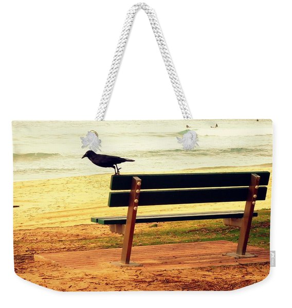 The Bench And The Blackbird Weekender Tote Bag