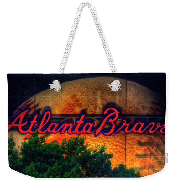 The Big Ball Atlanta Braves Baseball Signage Art Weekender Tote Bag
