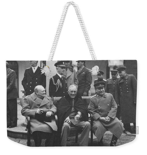 The Big Three -- Ww2 Leaders Weekender Tote Bag
