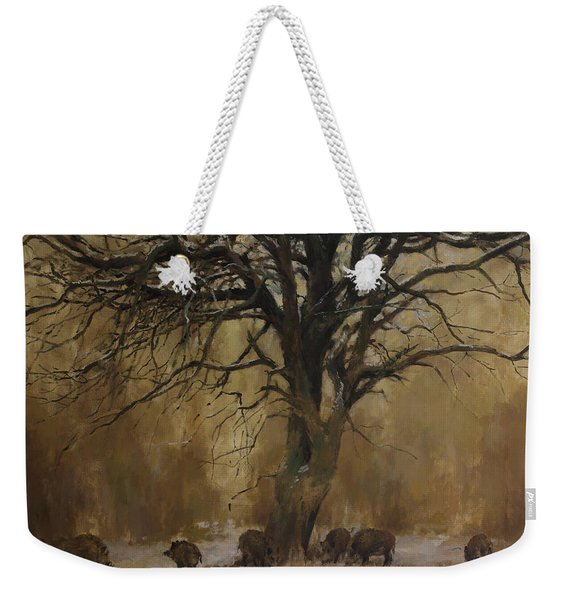 The Big Tree With Wild Boars Weekender Tote Bag