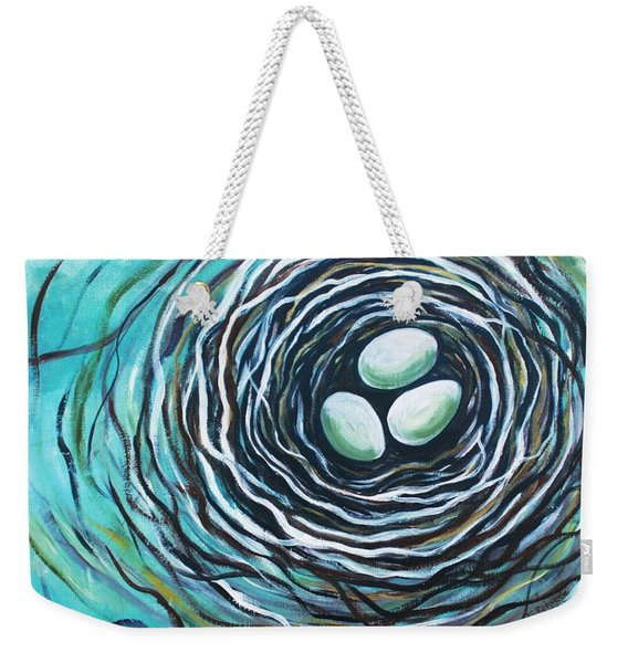 The Bird Nest Weekender Tote Bag