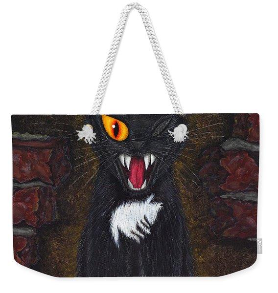 The Black Cat Edgar Allan Poe Weekender Tote Bag