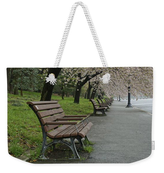The Blossoms And The Bench Weekender Tote Bag