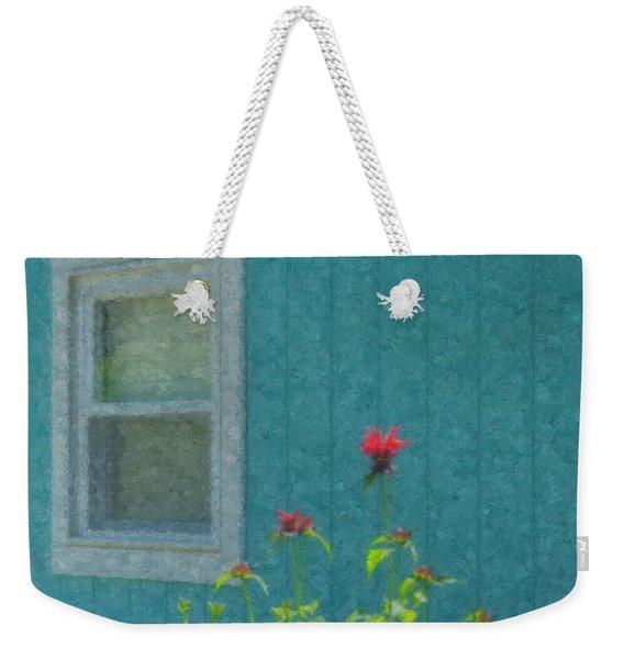 The Blue Beach Shack Weekender Tote Bag