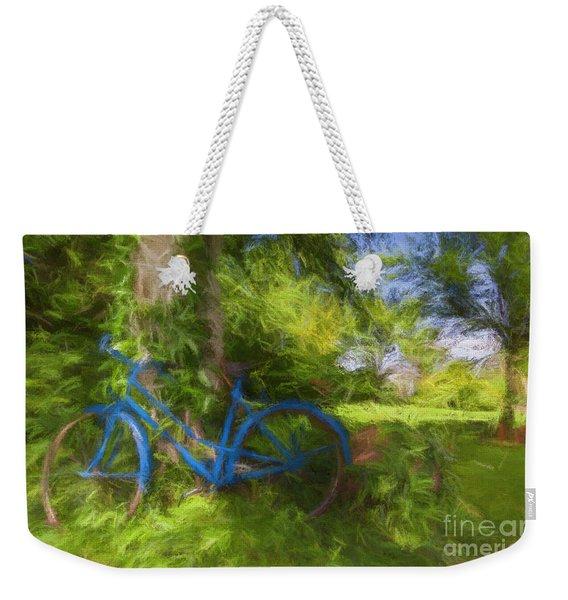 The Blue Bicycle Weekender Tote Bag