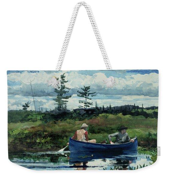 The Blue Boat Weekender Tote Bag