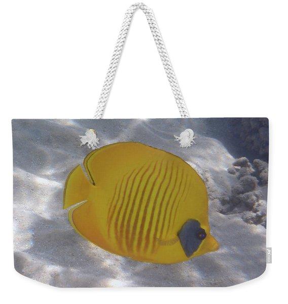 The Bluecheeked Butterflyfish Red Sea Weekender Tote Bag