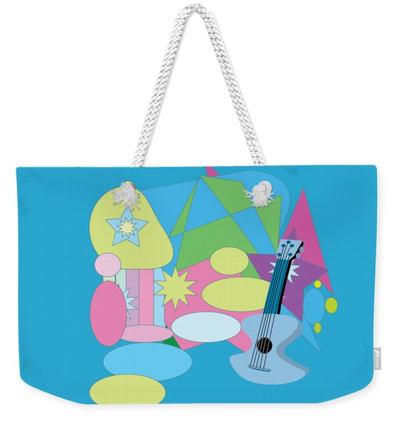 Weekender Tote Bag featuring the digital art The Blues by Eleni Mac Synodinos