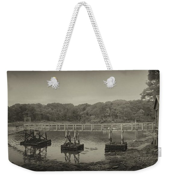 The Boathouse And Wharf Weekender Tote Bag