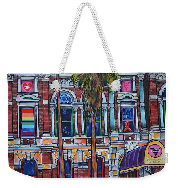 The Bonham Exchange Close Up Weekender Tote Bag
