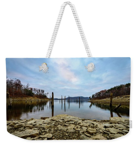 The Bottom Of The Lake Weekender Tote Bag