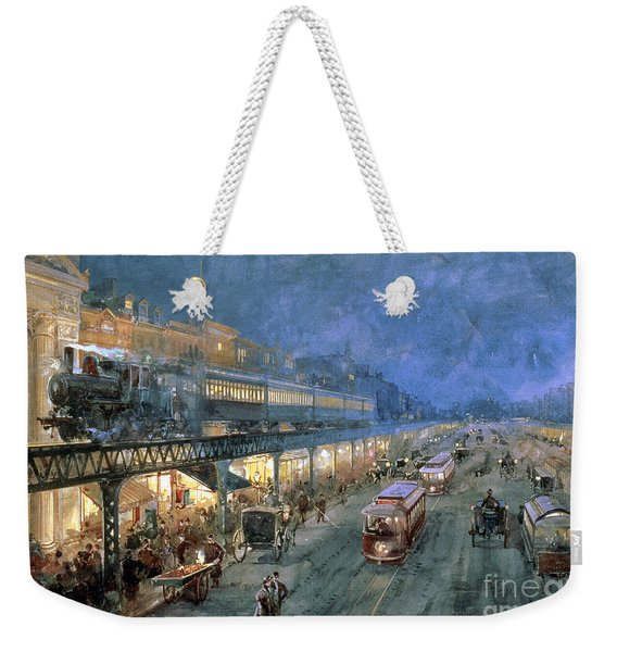 The Bowery At Night Weekender Tote Bag
