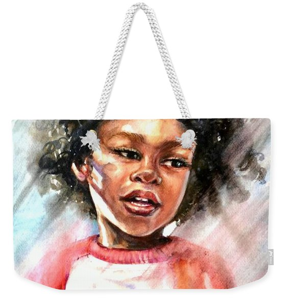The Boy With A Mango Weekender Tote Bag