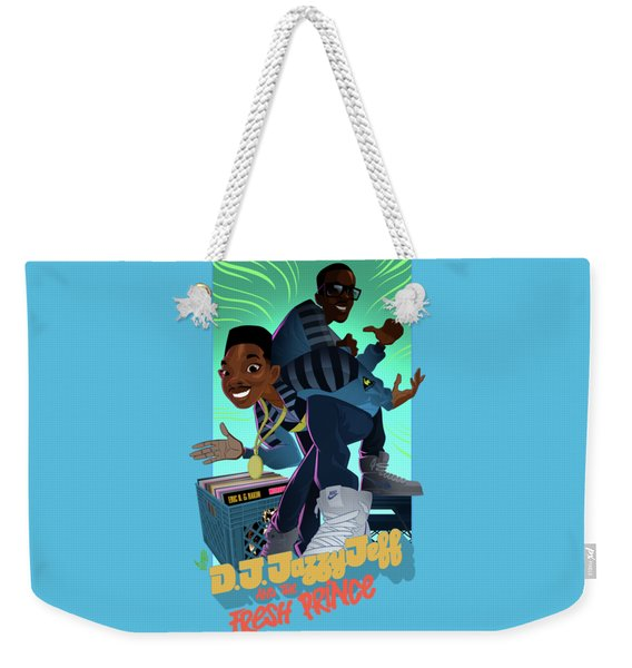 Weekender Tote Bag featuring the digital art The Brand New Funk by Nelson Dedos Garcia