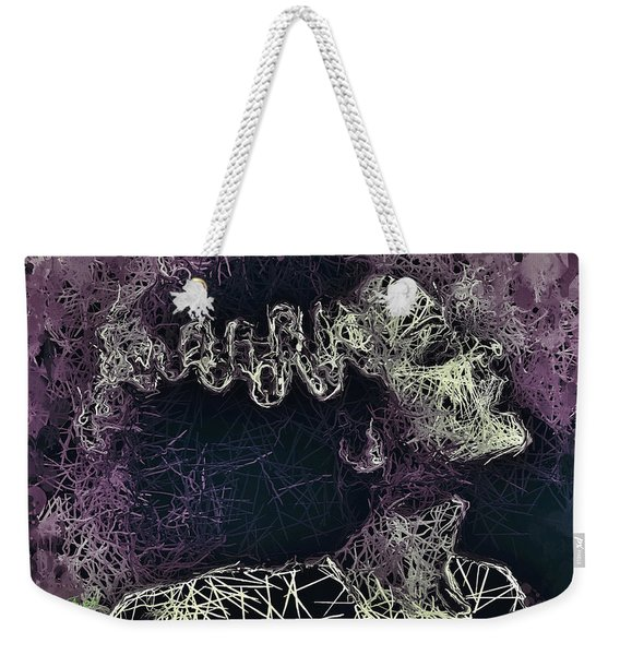 Weekender Tote Bag featuring the mixed media The Bride Of Frankenstein by Al Matra