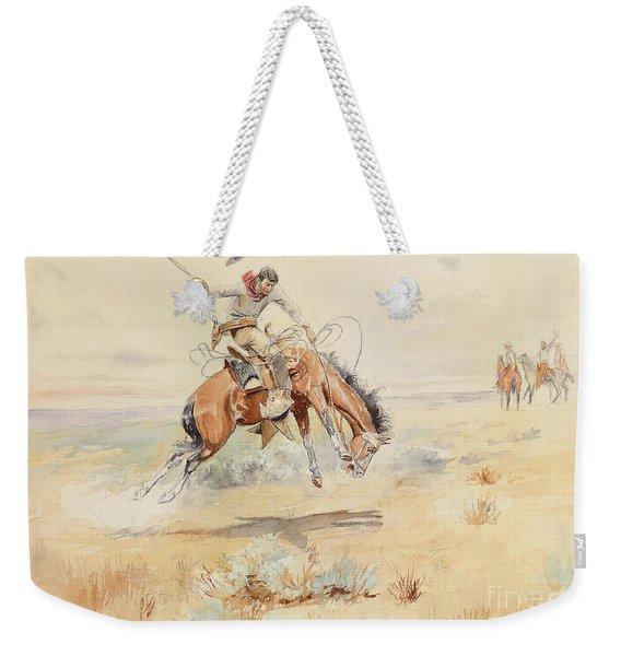 The Bronco Buster Weekender Tote Bag