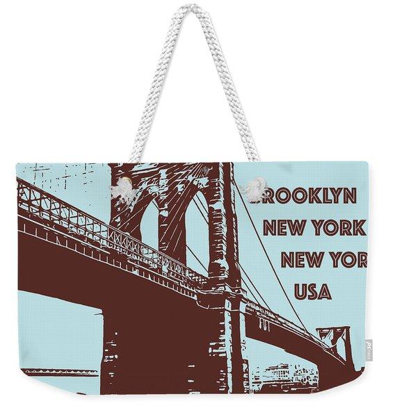 The Brooklyn Bridge, New York, Ny Weekender Tote Bag