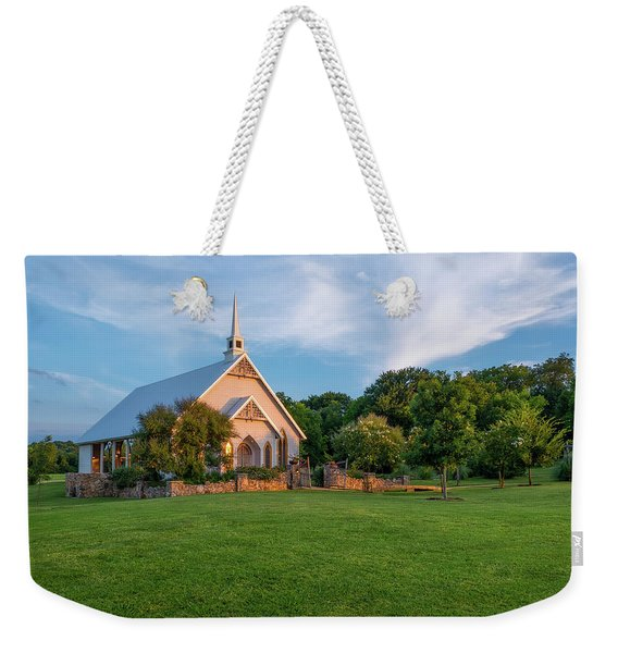 The Brooks At Weatherford Wedding Chapel Weekender Tote Bag