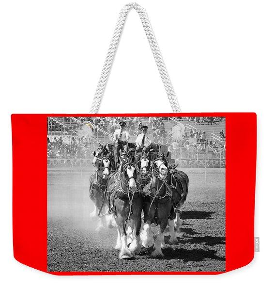 The Budweiser Clydesdales Weekender Tote Bag