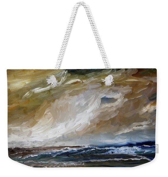The Building Storm Weekender Tote Bag