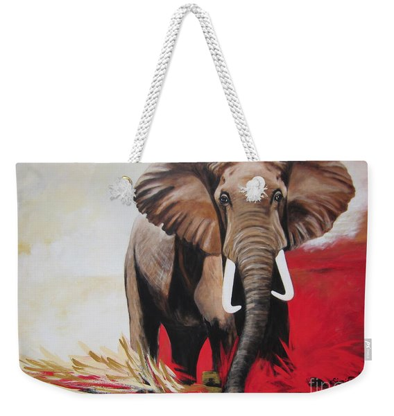 Win Win - The  Bull Elephant  Weekender Tote Bag