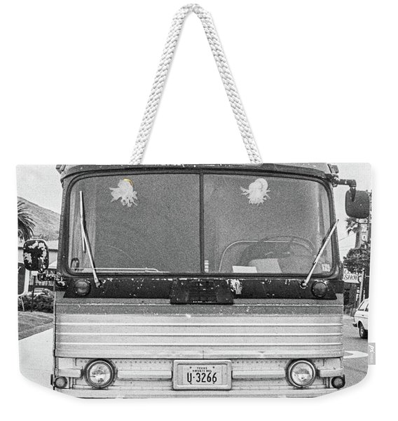 Weekender Tote Bag featuring the photograph The Bus To Laredo by Frank DiMarco