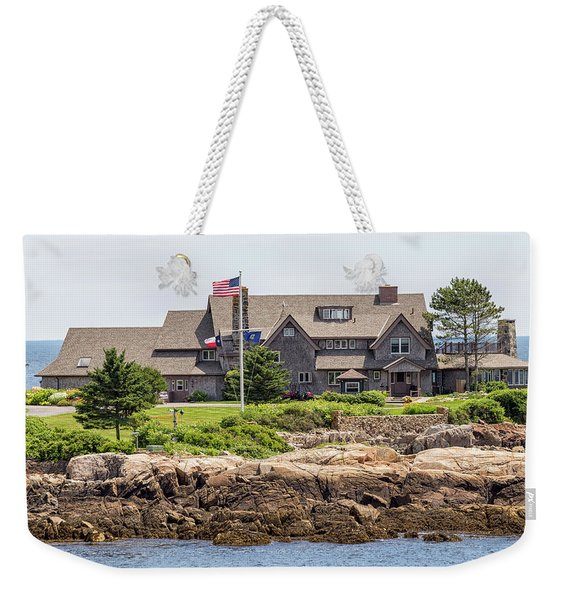 The Bush Compound Kennebunkport Maine Weekender Tote Bag
