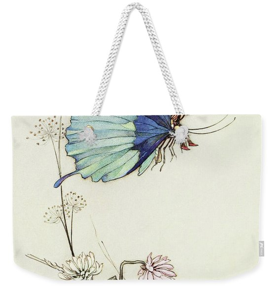 The Butterfly Took Wing, And Mounted Into The Air With Little Tom Thumb On His Back Weekender Tote Bag