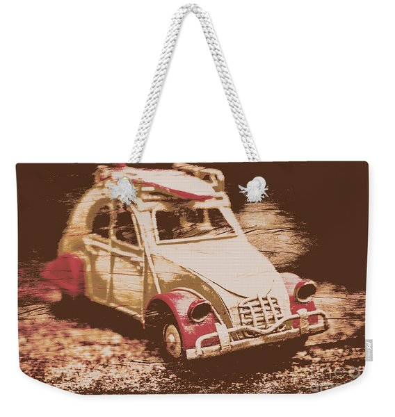 The Bygone Surfing Holiday Weekender Tote Bag