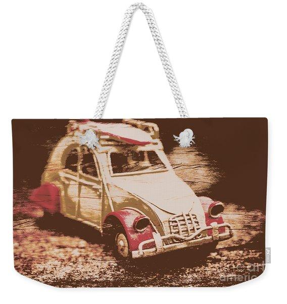 The Bygone Surfing Holiday Weekender Tote Bag