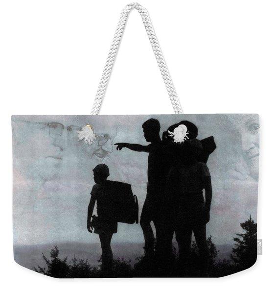 Weekender Tote Bag featuring the photograph The Call Centennial Cover Image by Wayne King
