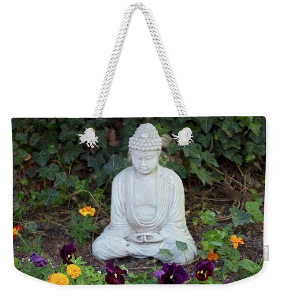 Weekender Tote Bag featuring the pyrography The Calm by Michael Lucarelli