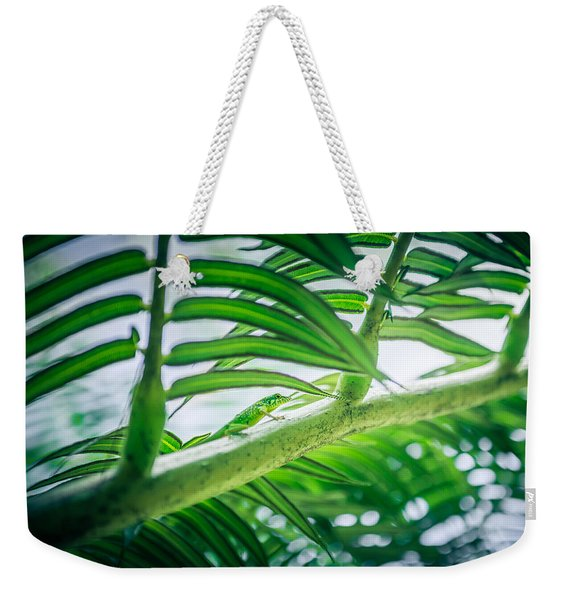 The Camouflaged Weekender Tote Bag