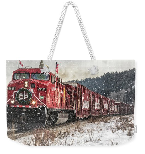 The Canadian Pacific Holiday Train Weekender Tote Bag