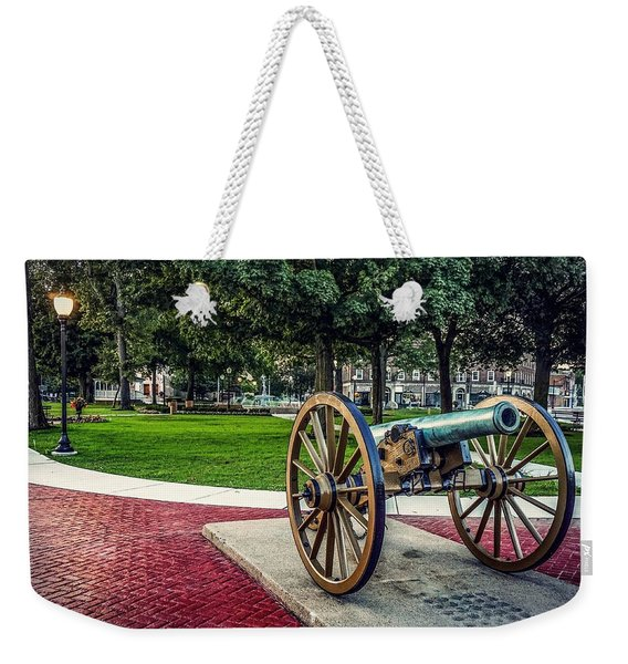 The Cannon In The Park Weekender Tote Bag