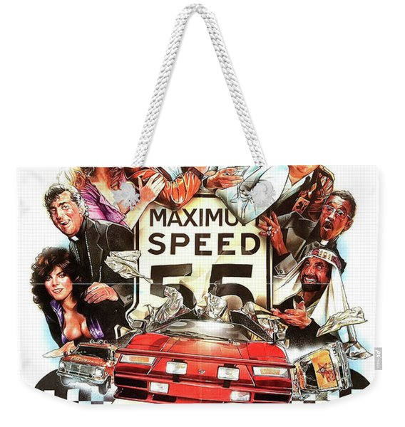 The Cannonball Run Retro Movie Poster  Weekender Tote Bag