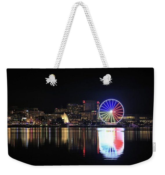 The Capital Wheel Over The Potomac Weekender Tote Bag