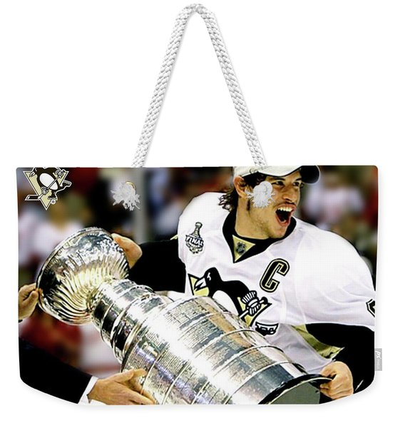 the Captain, Sidney Crosby, Pittsburg Penguins, number 87 Weekender Tote Bag