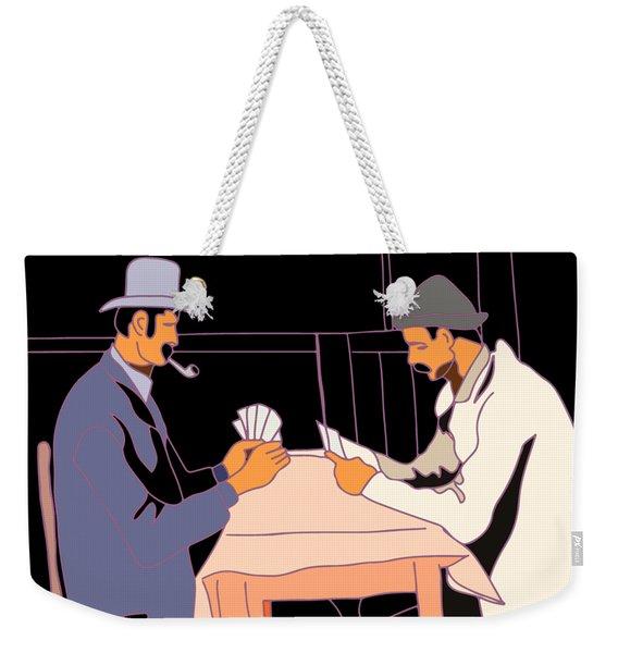 The Card Players Weekender Tote Bag