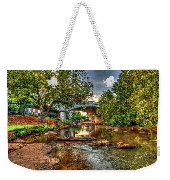 The Center Of Town Reedy River Falls Park Greenville South Carolina Art Weekender Tote Bag