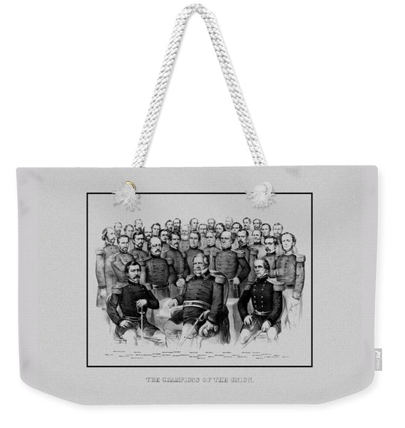 The Champions Of The Union -- Civil War Weekender Tote Bag