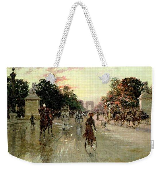 The Champs Elysees - Paris Weekender Tote Bag