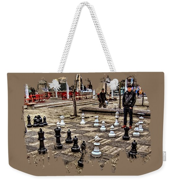 The Chess Match In Portland Weekender Tote Bag
