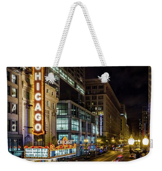 Illinois - The Chicago Theater Weekender Tote Bag